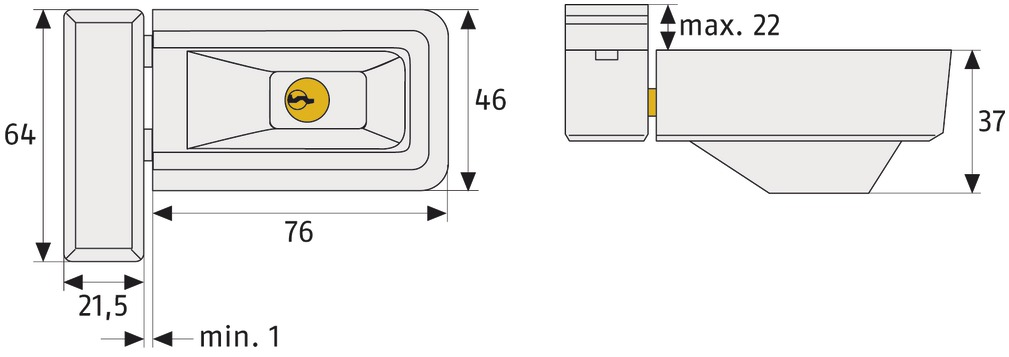 wei/ß ABUS Fenster-Zusatzschloss 3030 gleichschlie/ßend 31767