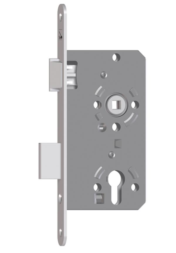 EUROBAT ZT-Einsteckschloss KL.3 PZ 55//72//8//20mm RS F//R=Metall ktg silber
